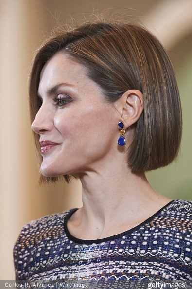 Queen Letizia of Spain attends several audiences at the Zarzuela Palace on April 30, 2015 in Madrid, Spain.