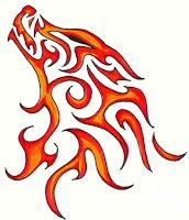 огненный волк тату