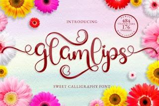 Glamlips Script Font