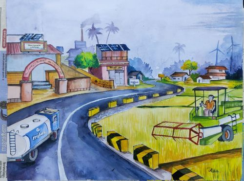 Abhin S R wins First Prize in District Level Painting Competition