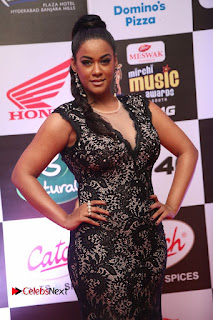 Actress Mumaith Khan Pictures in Black Dress at Mirchi Music Awards South 2015  0081.JPG