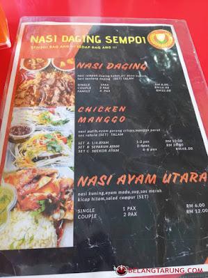Harga menu Makanan