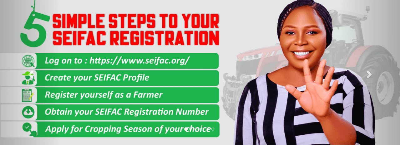 SEIFAC Registration Application Form Portal 2021/2022 – www.seifac.org #Arewapublisize