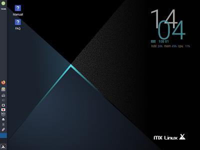MX Linux デスクトップ