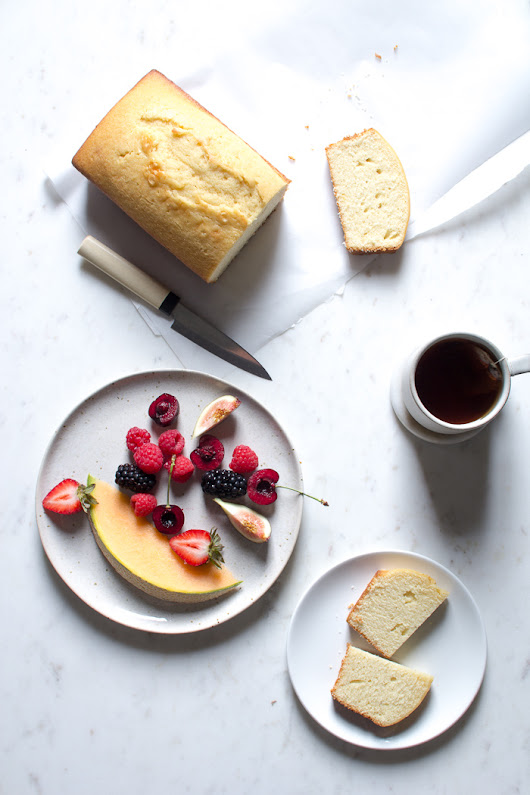 Pound Cake with Summer Fruit and Whipped Cream