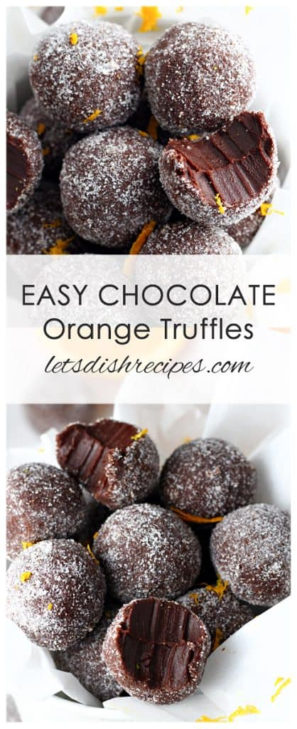 Dark chocolate and orange oil combine in these rich decadent truffles. With only four ingredients, you won't believe how easy they are to make!