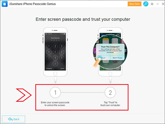 enter screen passcode and trust your computer