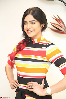 Adha Sharma in a Cute Colorful Jumpsuit Styled By Manasi Aggarwal Promoting movie Commando 2 (87).JPG
