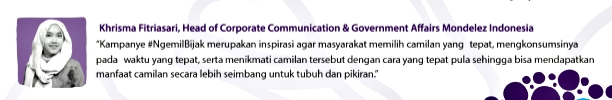 Khrisma Fitriasari, selaku Head of Corporate Communication Mondelez Indonesia