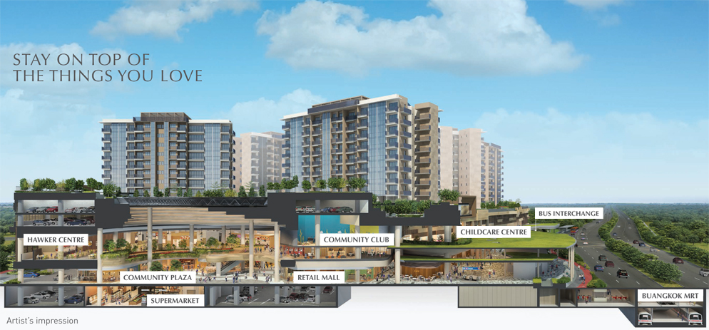 Sengkang Grand Residences - Cross Sectional View