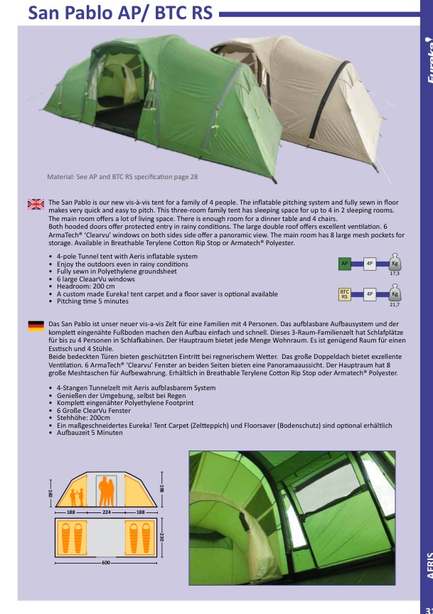 Camping Telt Amp Udstyr Nyheder 2016 Eureka Og Helinox