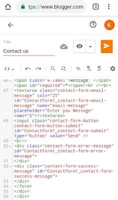 Code for contact form