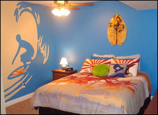 Surfing Theme Bedroom Ideas For Teens 27