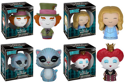 Disney's Alice in Wonderland Dorbz Vinyl Figures by Funko - Mad Hatter, Alice, the Cheshire Cat and the Red Queen