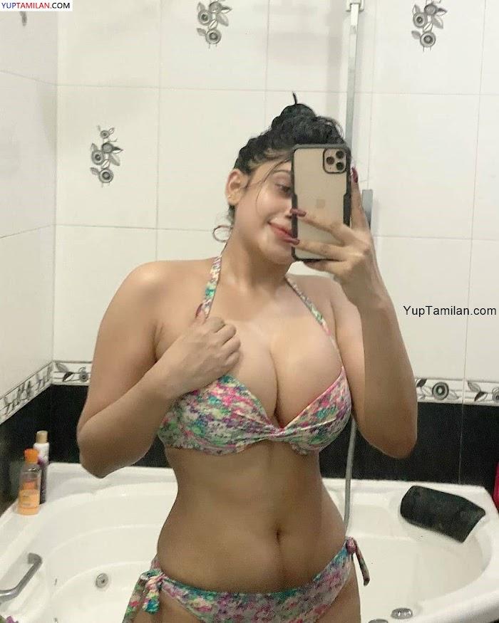 Piumi Hansamali Sexy Photos in Bikini-Deep Cleavage Selfie Photoshoot