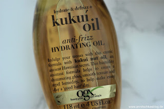 Review: OGX Kukui Oil - Anti-frizz Hydrating Oil - www.annitschkasblog.de