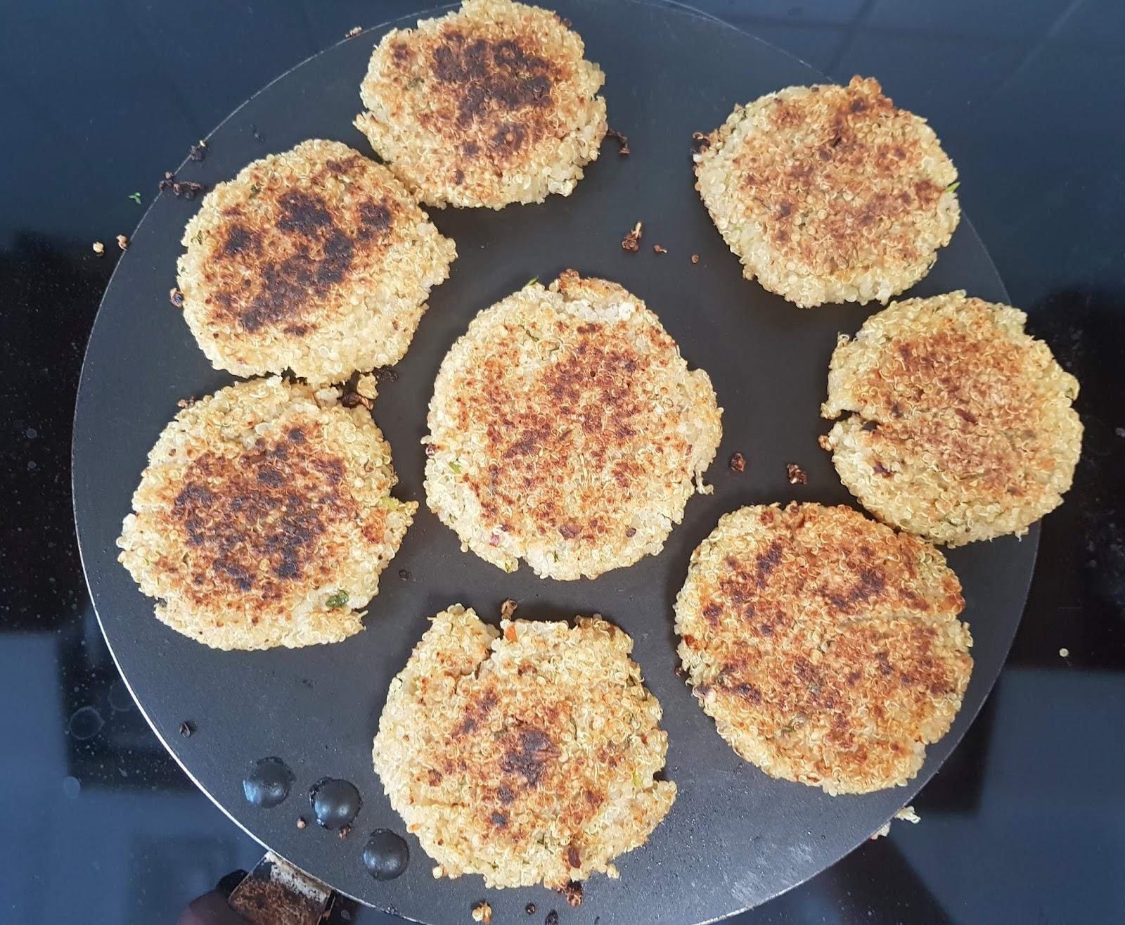 Vegan quinoa cutlet recipe - high protein vegan recipes - Healthy lunch ideas