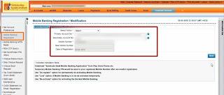 Mobile banking registration