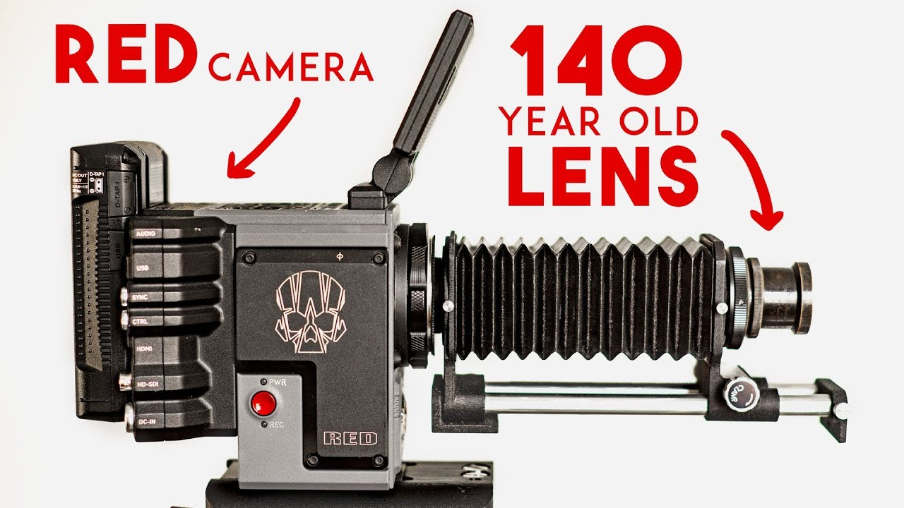 140 Year Old Lens On A Red Cinema Camera