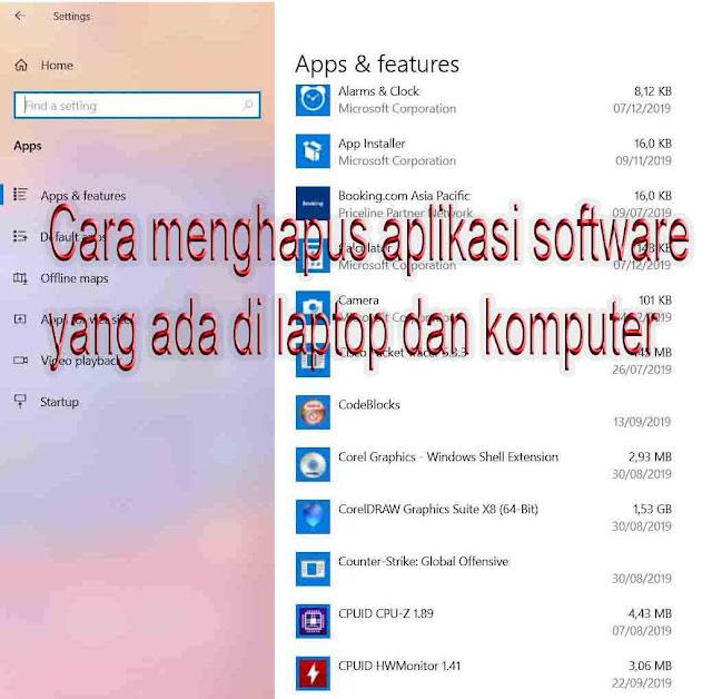 gambar menghapus aplikasi