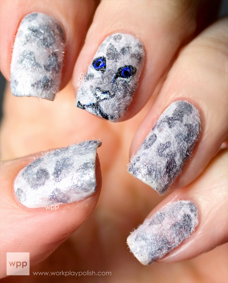 Mac Snow Leopard Nail Art