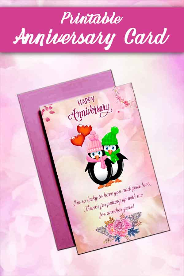 wedding anniversary cards printable