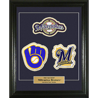 Three framed patches