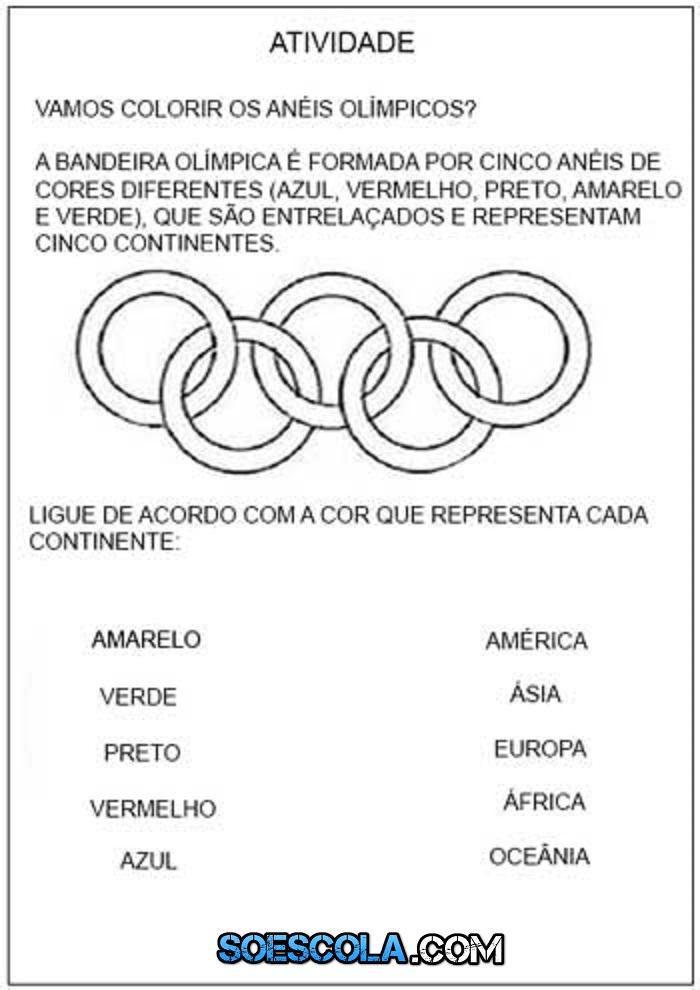 Atividades Sobre Olimpiadas Para Imprimir E Colorir So Escola