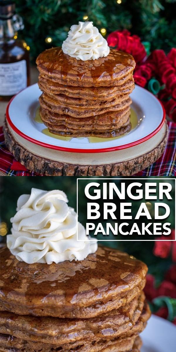 Gingerbread Pancakes #breakfastideas