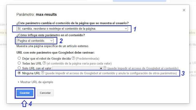 paso dos de search consoles Eliminar ?m=1 y ?m=0 de la URL en Blogger