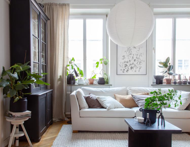 One Swedish Sitting Room, Two Cosy Winter ways!