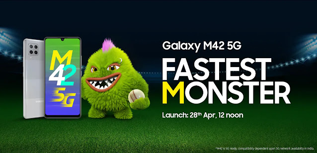 Samsung M42 launching on 28th April at 12 Noon - Comes with Quad-Camera and Snapdragon 750G 5G | TechNeg