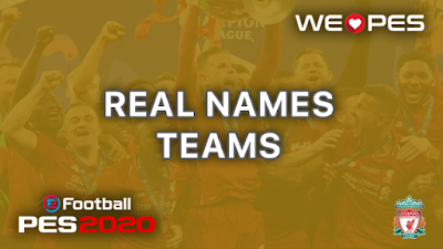 Real Names | Teams | PES 2020
