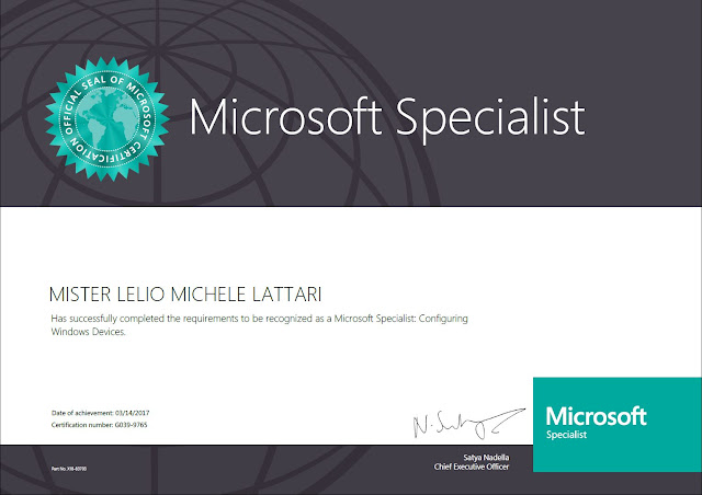 Certyfikat Microsoft Specialist