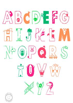 Abecedario en inglés para colorear y aprender