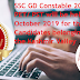SSC GD Constable 2018 PET/ PST will be held in October 2019 for the Candidates belonging to the Kashmir Valley