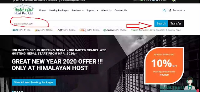 buy a custom domain in nepal