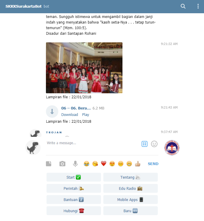 Cara Mengirim Media (Photo, Audio, Document, Video) di Bot Telegram