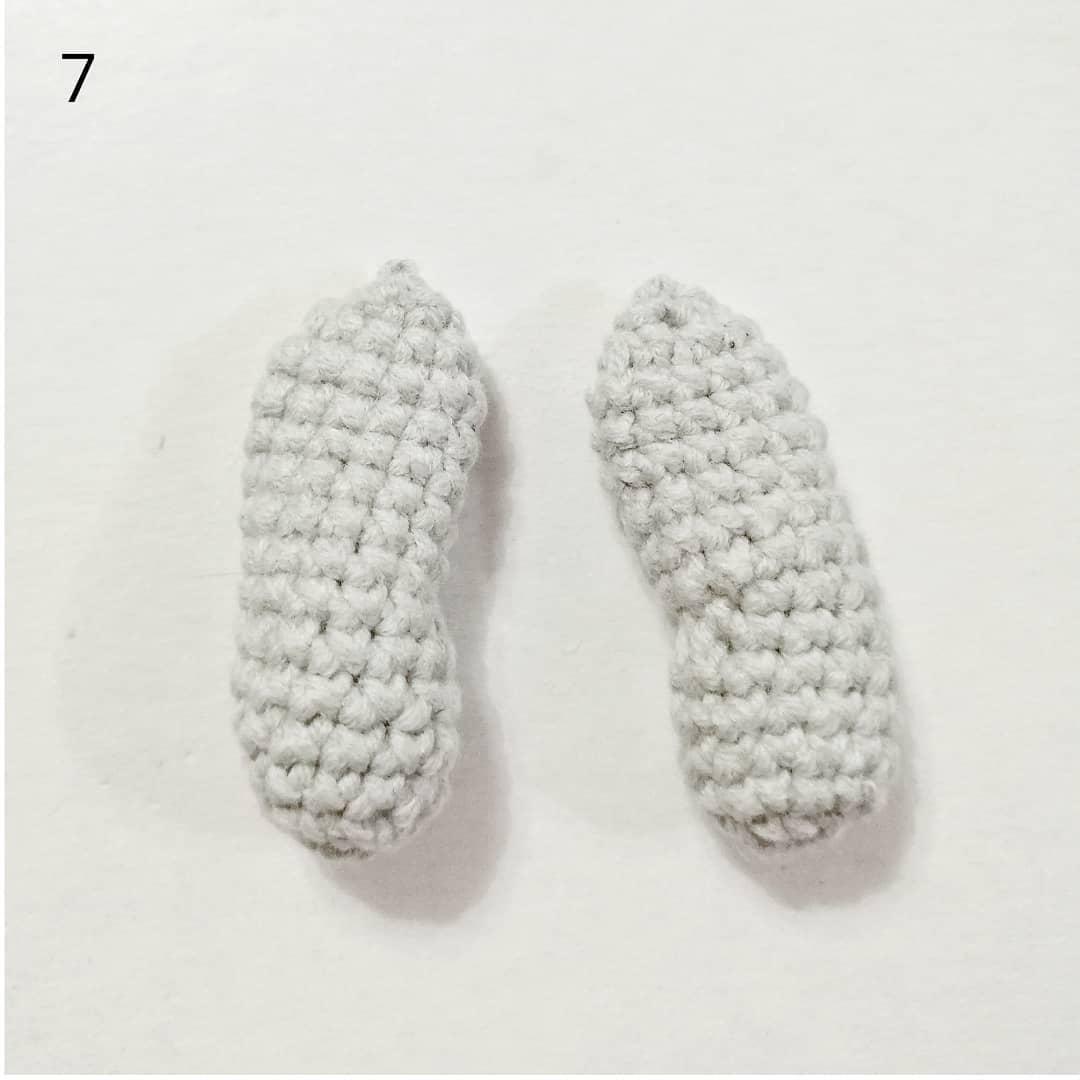 Crochet hippo tutorial arms