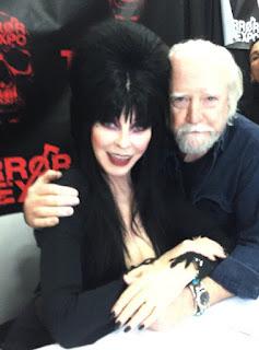 Scott Wilson hugging Elvira