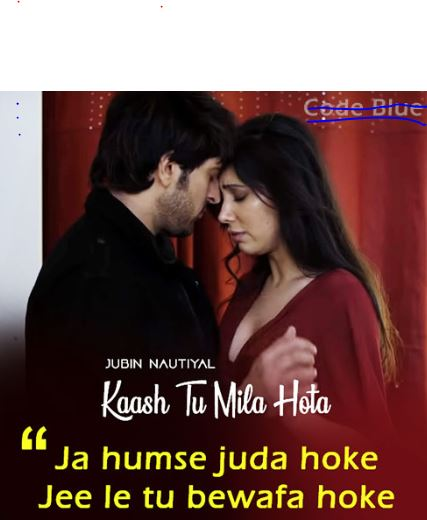 Kaash Tu Mila Hota Lyrics | Jubin Nautiyal | Code Blue (Hindi) 2019 FULL Lyrics