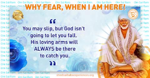 God's Loving Arms - Sai Baba Dwarkmai Pose Painting Image