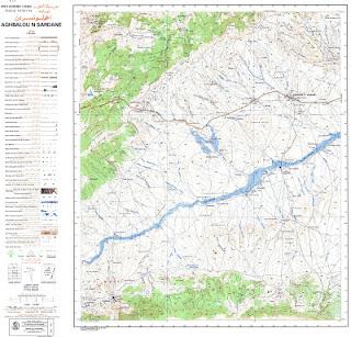 AGHBALOU N SARDANE Morocco 50000 (50k) Topographic map free download