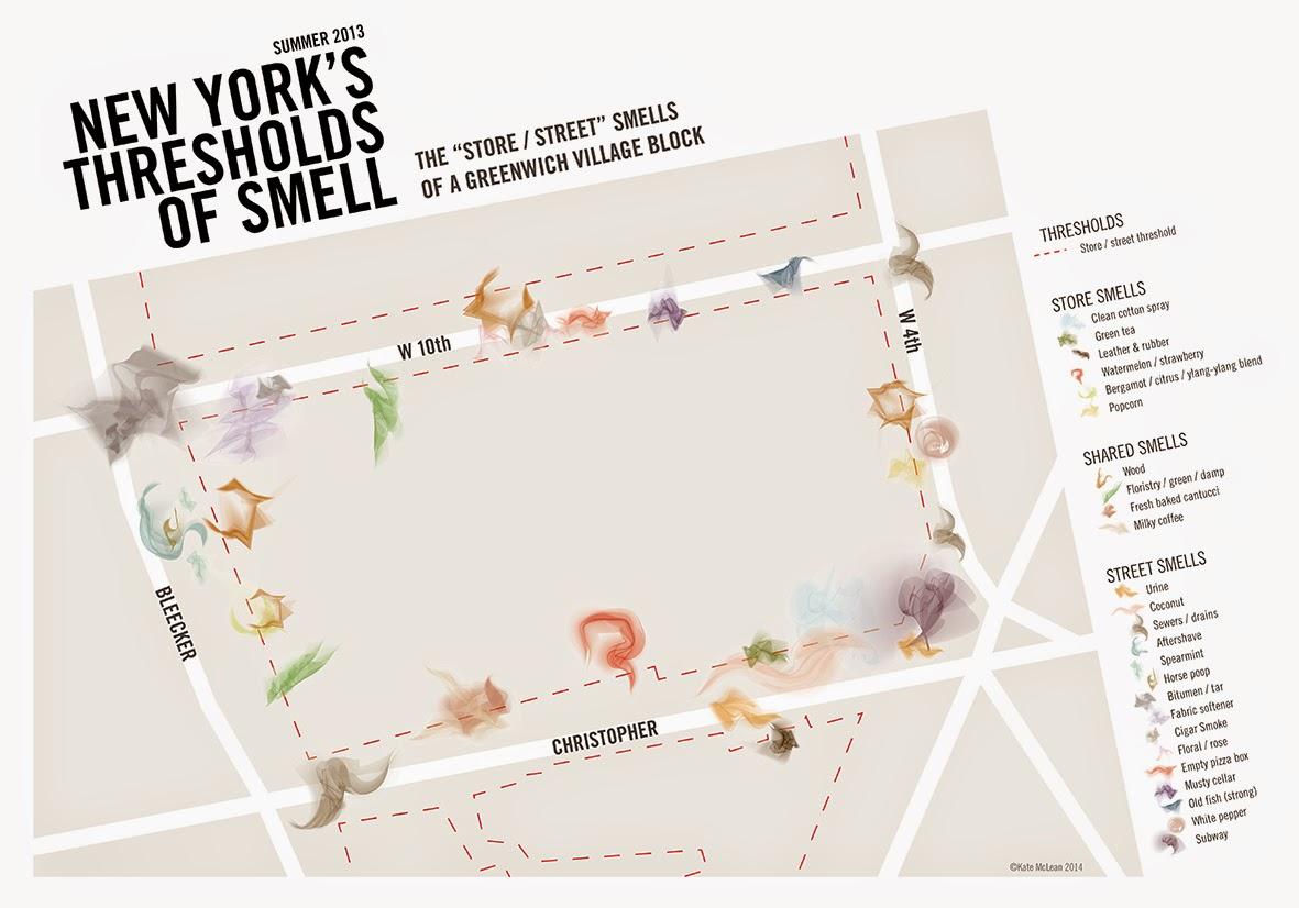 Visualising Smell Thresholds - NYC Greenwich Village