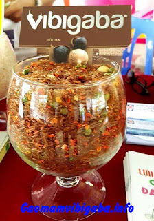 Công dụng gạo lứt mầm Vibigaba tẩm tỏi đen