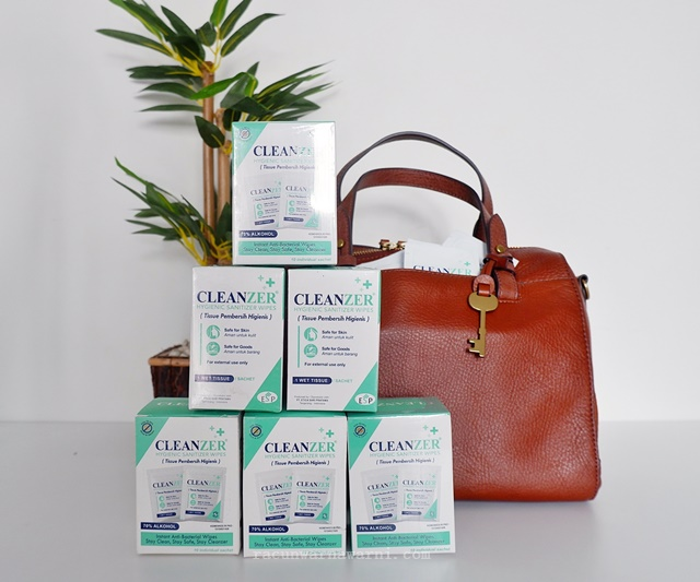 Review Tisu pembersih Cleanzer Hygienic Sanitizer Wipes