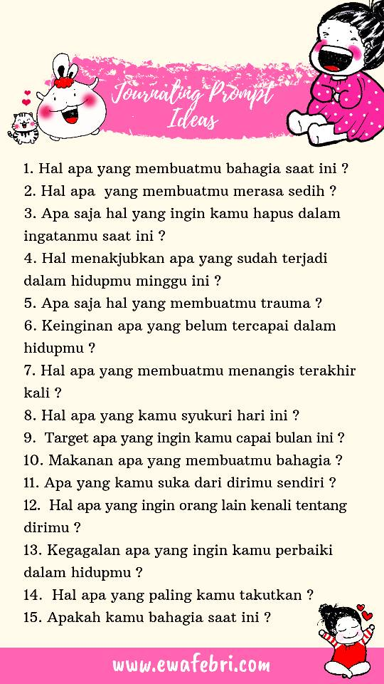 contoh prompt list journal