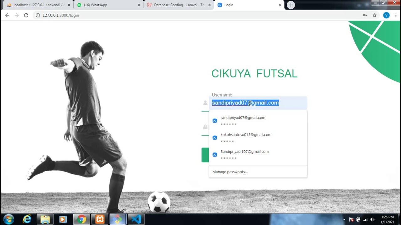 Source Code Aplikasi Booking Futsal Laravel
