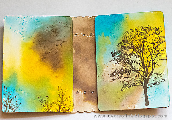 Layers of ink - Stamped Passport Book Tutorial by Anna-Karin with Sizzix Passport Book by Eileen Hull and Stampotique stamps