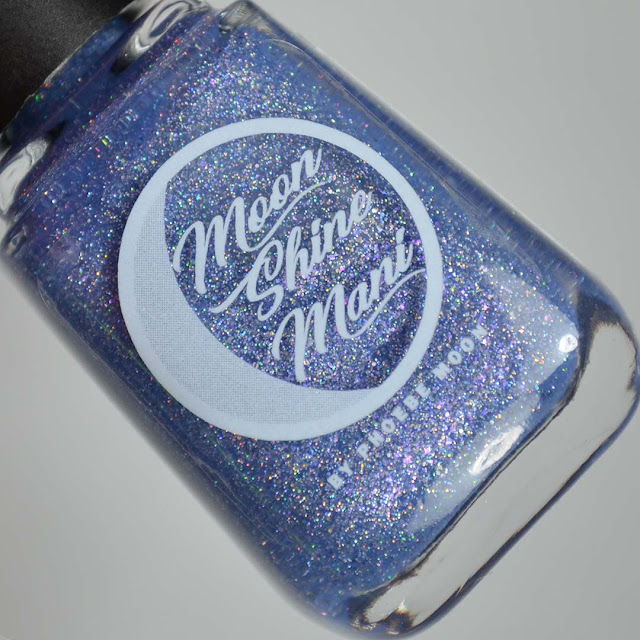 periwinkle holo nail polish in a bottle